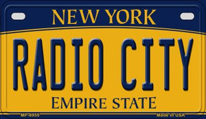 Radio City New York Wholesale Novelty Metal Motorcycle Plate MP-8955