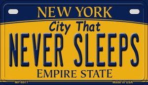 Never Sleeps New York Wholesale Novelty Metal Motorcycle Plate MP-8977