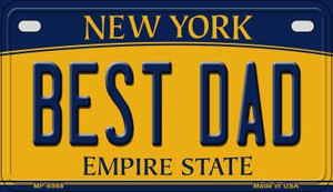 Best Dad New York Wholesale Novelty Metal Motorcycle Plate MP-8988