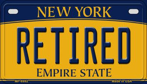 Retired New York Wholesale Novelty Metal Motorcycle Plate MP-8992