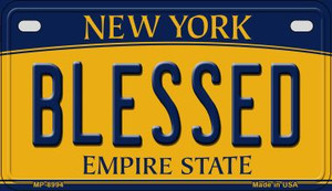 Blessed New York Wholesale Novelty Metal Motorcycle Plate MP-8994
