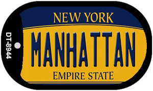 Manhattan New York Wholesale Novelty Metal Dog Tag Necklace DT-8944