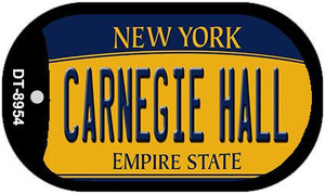 Carnegie Hall New York Wholesale Novelty Metal Dog Tag Necklace DT-8954