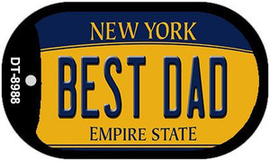 Best Dad New York Wholesale Novelty Metal Dog Tag Necklace DT-8988