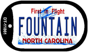 Fountain North Carolina Wholesale Novelty Metal Dog Tag Necklace DT-11861