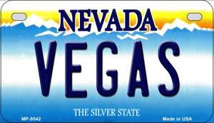 Vegas Nevada Wholesale Novelty Metal Motorcycle Plate MP-9542