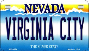 Virginia City Nevada Wholesale Novelty Metal Motorcycle Plate MP-9554
