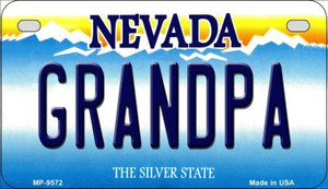 Grandpa Nevada Wholesale Novelty Metal Motorcycle Plate MP-9572