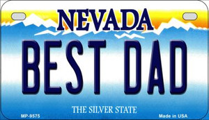 Best Dad Nevada Wholesale Novelty Metal Motorcycle Plate MP-9575