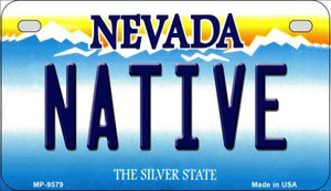Native Nevada Wholesale Novelty Metal Motorcycle Plate MP-9579