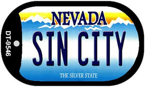Sin City Nevada Wholesale Novelty Metal Dog Tag Necklace DT-9546