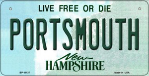 Portsmouth New Hampshire Wholesale Novelty Metal Bicycle Plate BP-11137