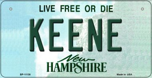 Keene New Hampshire Wholesale Novelty Metal Bicycle Plate BP-11138