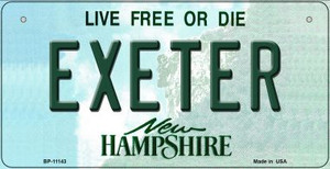 Exeter New Hampshire Wholesale Novelty Metal Bicycle Plate BP-11143
