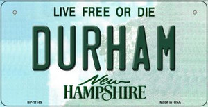 Durham New Hampshire Wholesale Novelty Metal Bicycle Plate BP-11145