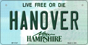 Hanover New Hampshire Wholesale Novelty Metal Bicycle Plate BP-11147