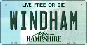 Windham New Hampshire Wholesale Novelty Metal Bicycle Plate BP-11148