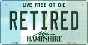 Retired New Hampshire Wholesale Novelty Metal Bicycle Plate BP-11154
