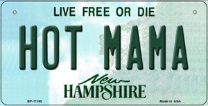 Hot Mama New Hampshire Wholesale Novelty Metal Bicycle Plate BP-11155