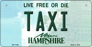 Taxi New Hampshire Wholesale Novelty Metal Bicycle Plate BP-11166