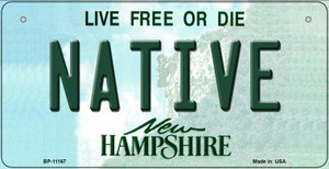 Native New Hampshire Wholesale Novelty Metal Bicycle Plate BP-11167