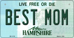 Best Mom New Hampshire Wholesale Novelty Metal Bicycle Plate BP-11176