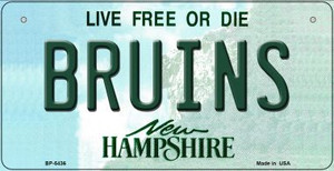 Bruins New Hampshire Wholesale Novelty Metal Bicycle Plate BP-5436