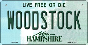 Woodstock New Hampshire Wholesale Novelty Metal Bicycle Plate BP-11863