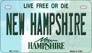 New Hampshire Wholesale Novelty Metal Motorcycle Plate MP-11131