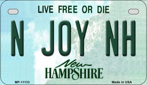 N Joy NH New Hampshire Wholesale Novelty Metal Motorcycle Plate MP-11133