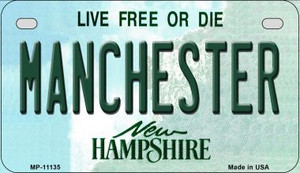 Manchester New Hampshire Wholesale Novelty Metal Motorcycle Plate MP-11135