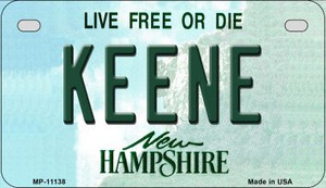 Keene New Hampshire Wholesale Novelty Metal Motorcycle Plate MP-11138