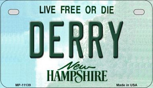 Derry New Hampshire Wholesale Novelty Metal Motorcycle Plate MP-11139