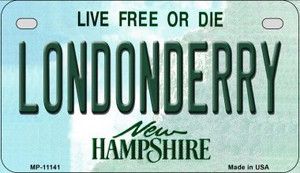 Londonderry New Hampshire Wholesale Novelty Metal Motorcycle Plate MP-11141