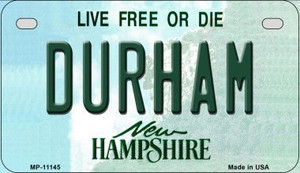 Durham New Hampshire Wholesale Novelty Metal Motorcycle Plate MP-11145