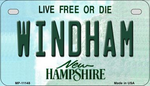Windham New Hampshire Wholesale Novelty Metal Motorcycle Plate MP-11148