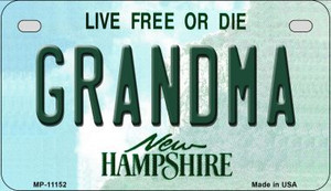 Grandma New Hampshire Wholesale Novelty Metal Motorcycle Plate MP-11152