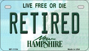 Retired New Hampshire Wholesale Novelty Metal Motorcycle Plate MP-11154