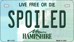 Spoiled New Hampshire Wholesale Novelty Metal Motorcycle Plate MP-11157