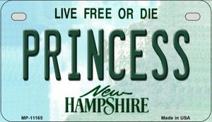 Princess New Hampshire Wholesale Novelty Metal Motorcycle Plate MP-11165