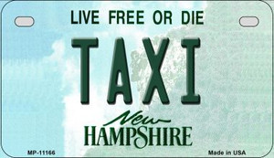 Taxi New Hampshire Wholesale Novelty Metal Motorcycle Plate MP-11166