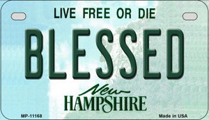 Blessed New Hampshire Wholesale Novelty Metal Motorcycle Plate MP-11168