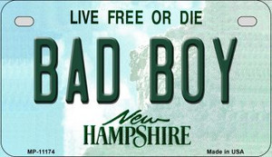 Bad Boy New Hampshire Wholesale Novelty Metal Motorcycle Plate MP-11174