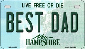 Best Dad New Hampshire Wholesale Novelty Metal Motorcycle Plate MP-11177