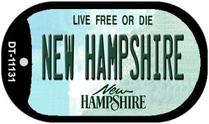 New Hampshire Wholesale Novelty Metal Dog Tag Necklace DT-11131