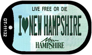 I Love New Hampshire Wholesale Novelty Metal Dog Tag Necklace DT-11132