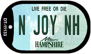 N Joy NH New Hampshire Wholesale Novelty Metal Dog Tag Necklace DT-11133