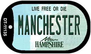 Manchester New Hampshire Wholesale Novelty Metal Dog Tag Necklace DT-11135