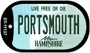 Portsmouth New Hampshire Wholesale Novelty Metal Dog Tag Necklace DT-11137