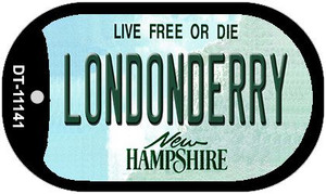 Londonderry New Hampshire Wholesale Novelty Metal Dog Tag Necklace DT-11141